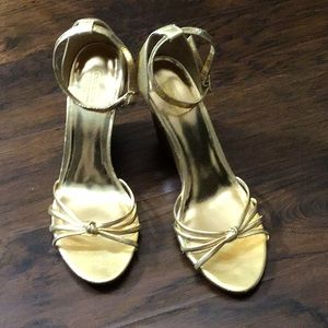 New! Coach Gold Wedges